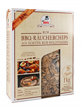 Räucherchips,  BBQ Wood Chips RUM von Mr. BBQ®